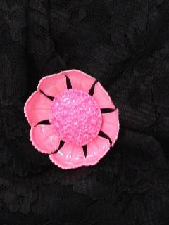 1960's Womens Accessories - Jewelry - Mod Enameled Pin