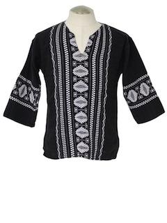 1970's Unisex Guatemalan Hippie Shirt