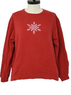 1980's Womens Minimalist Ugly Christmas Sweatshirt
