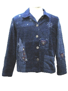 1980's Womens Country Kitsch Ugly Christmas Jacket to wear over your Ugly Christmas Sweater