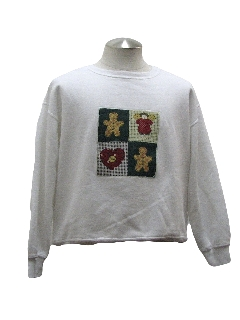 1980's Womens Country Kitsch Ugly Christmas Sweatshirt