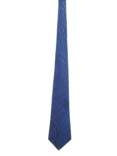 1960's Mens Mod Wide Jacquard Necktie
