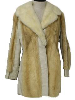 1960's Womens Leather and Fur Jacket