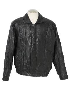 1980's Mens Leather Members Only Jacket
