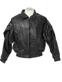 1980's Unisex Totally 80s Leather Jacket