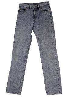 1980's Mens Totally 80s Stone Washed Jeans