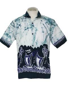 1990's Mens Batik Sport Shirt