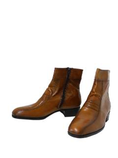1970's Mens Accessories - Shoes Chelsea or Beatle Ankle Boots