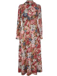 1970's Womens Gown Dress