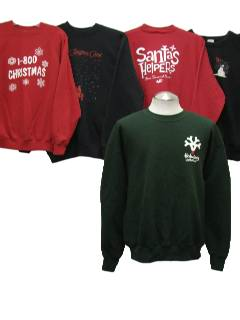 1990's Wholesale Mens Ugly Chirstmas Sweatshirts