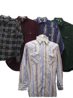 1990's Wholesale Mens Flannel Western Shirts