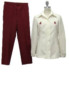 1970's Womens Combo Leisure Suit