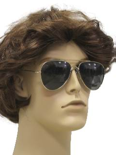 1980's Mens Totally 80s Aviator Sunglasses