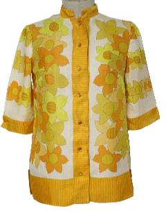 1970's Womens Pow-Flower Shirt