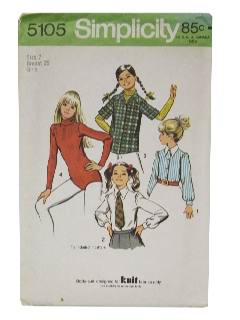1970's Womens/Girls Sewing Pattern
