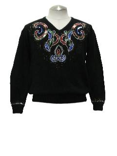 1980's Womens Totally80s style Cocktail Sweater