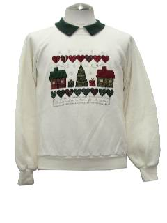 1980's Womens Country Kitsch Style Ugly Christmas Sweatshirt