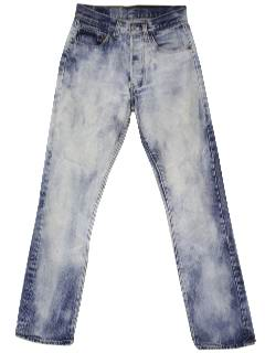 1980's Womens Totally 80s Acid Washed Jeans Pants