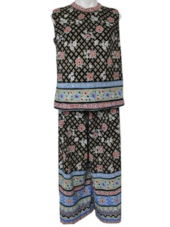 1970's Womens Hippie Pantsuit