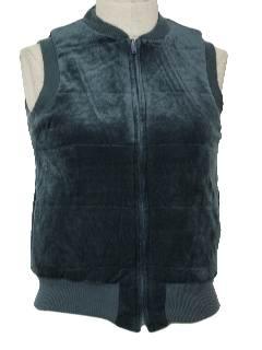 1980's Womens Velour Vest