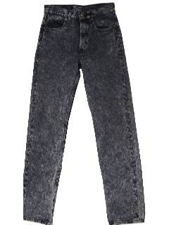 1980's Mens Totally 80s Acid Washed Jeans