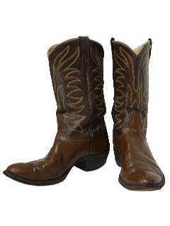 1980's Mens Accessories - Shoes / Cowboy Boots