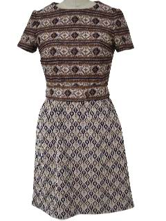 1970's Womens Knit Mini Dress