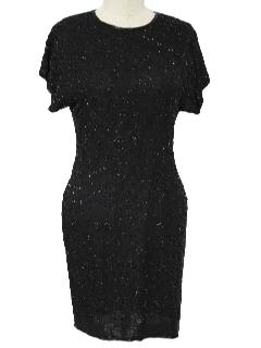 1980's Womens Timeless Little Black Cocktail Dress
