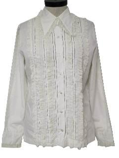 1970's Womens Tuxedo Shirt