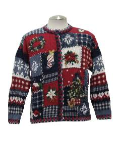 1980's Womens Ugly Country Kitsch Style Christmas Sweater