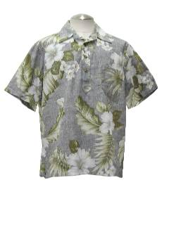 1980's Mens Hawaiian Totally 80s Style Reverse Print Shirt