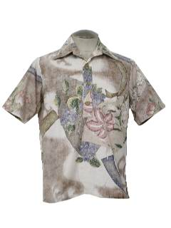 1960's Mens Hawaiian Shirt