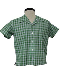 1990's Mens Mod Sport Shirt