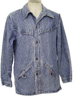 1970's Mens Western Style Denim Jacket