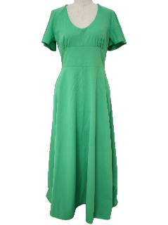 1970's Womens Gown Knit Maxi Dress