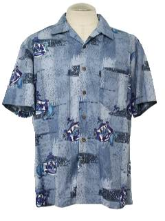 1980's Mens Hawaiian Style Sport Shirt