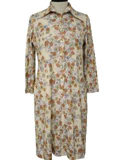 1970's Womens Floral Dress