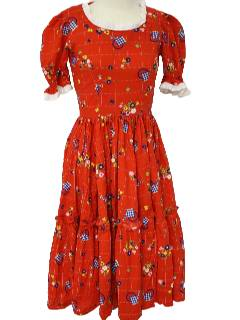 1970's Womens Square-dancing Dress
