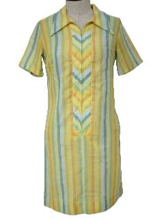 1960's Womens Mod House Dress