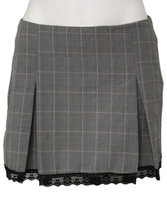 1990's Womens Plaid Punk Mini Skirt