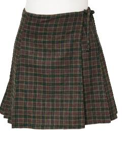 1990's Womens Plaid Skirt