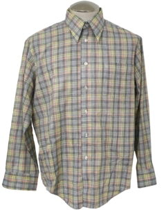 1970's Mens Plaid Shirt