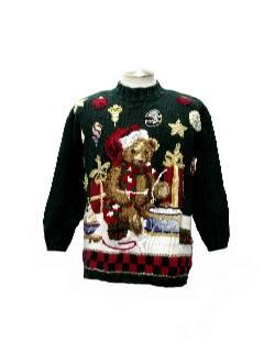 1980's Unisex Bear-riffic Ugly Christmas Sweater