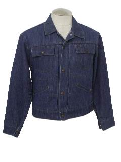 1960's Mens Western Style Mod Denim Jacket