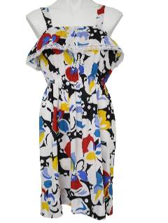 1980's Womens Totally 80s Cotton Dress