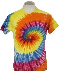 1980's Mens Hippie Tie Dye T-Shirt