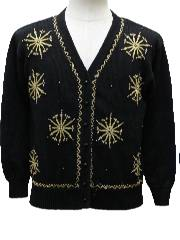 1980's Womens Totally 80s Style Ugly Christmas Cocktail Sweater