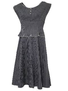 1950's Womens Cotton Dress