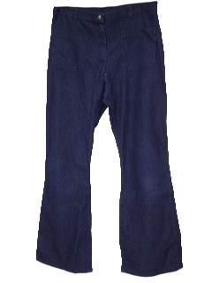 1970's Womens Denim Bellbottom Jeans Pants