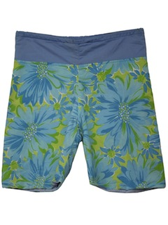 1960's Womens Mod Flower Power Shorts